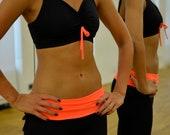 Ballet top in black-orange for Bikram yoga