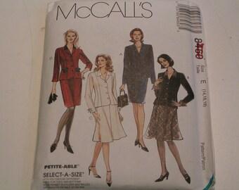 McCalls Pattern 8460 Miss Lined Jacket Skirt