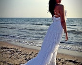 Wedding Dress, White Weding Dress, Lace Wedding Dress, Gipsy Wedding Dress, Long Bridal Gown, Ruffles Bridal Gown, Handmade SuzannaM Designs