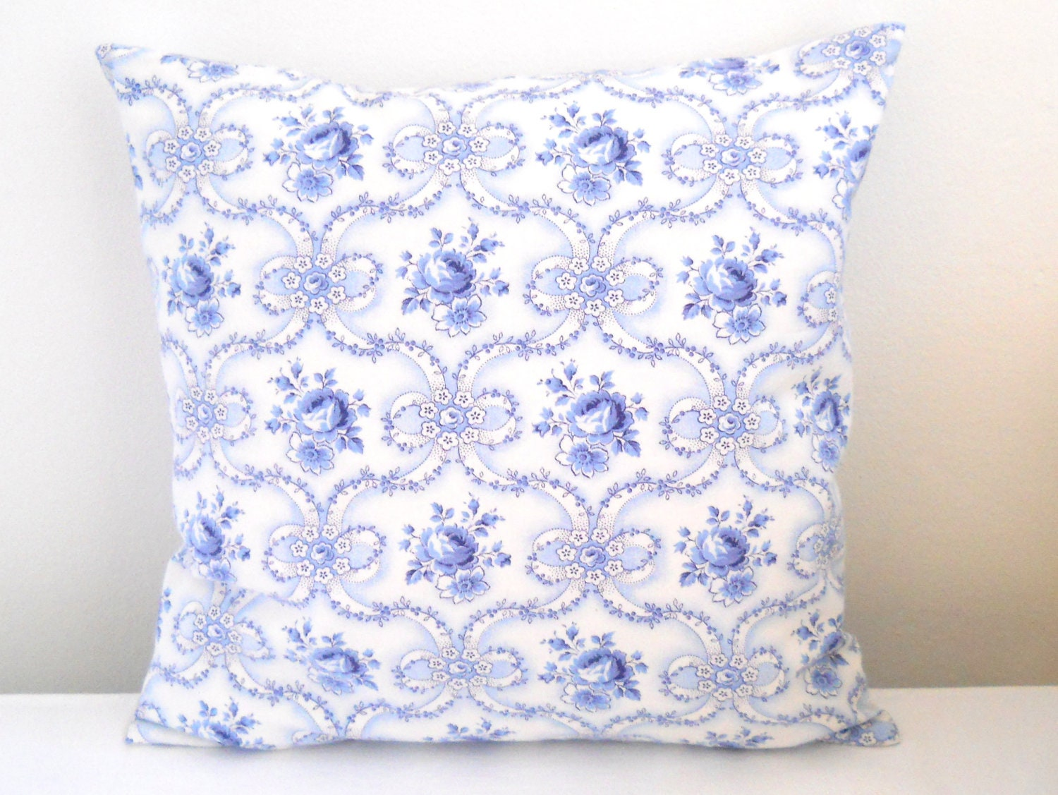 pillow cushion cover floral cushion cover blue by minoucbrocante