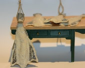 Miniature DRIED SALTED CODFISH (Bacalao) for your dollhouse kitchen or shop...
