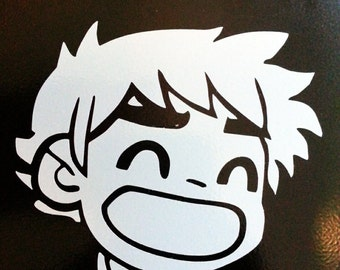 Scott Pilgrim so happy decal