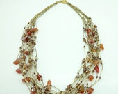 Garnet and crystal beads necklace.