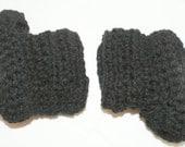 Black Baby Booties, Black Baby Boots, Black Baby Shoes, Crocheted Booties, Knit Booties, Winter boots, baby shoes, baby's first shoes