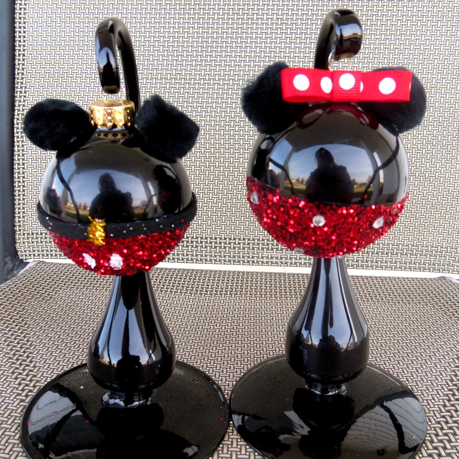 Minnie and mickey mouse christmas ornament disney by abril