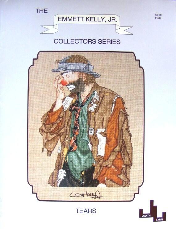 Emmett Kelly Jr. Cross Stitch Pattern 1992, Tears, Judith Lynn Collectors Series