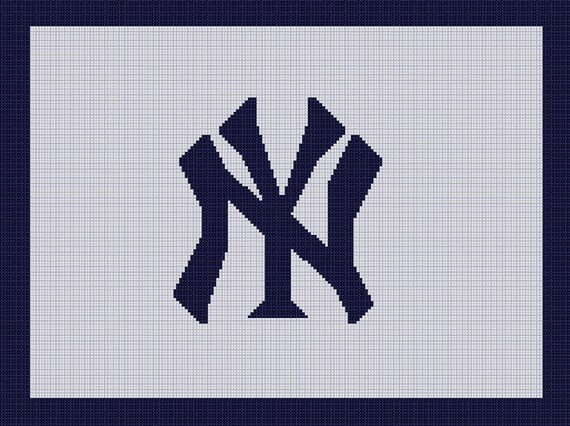 New York Yankees Mlb Afghan Crochet Graph Pattern Chart ...