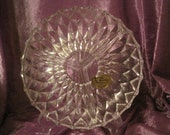 Rossini Crystal-Cut Made in W. Germany 3 Section Dish or Relish Tray