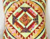 Desert Rhapsody quilted pillow cover -- OOaK