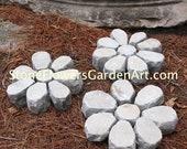 Stone Flowers Garden Art         Hand Chipped Sandstone Flower Bouquet 2