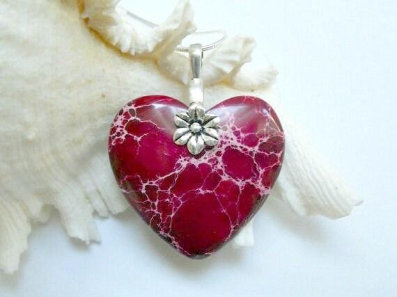 Red Sea Sediment Jasper Heart