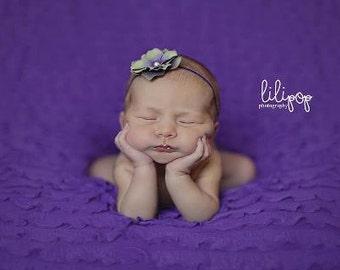 Baby Headband Newborn Headband Kids Headband Toddler Headband Infant Headband Purple Flower Headband
