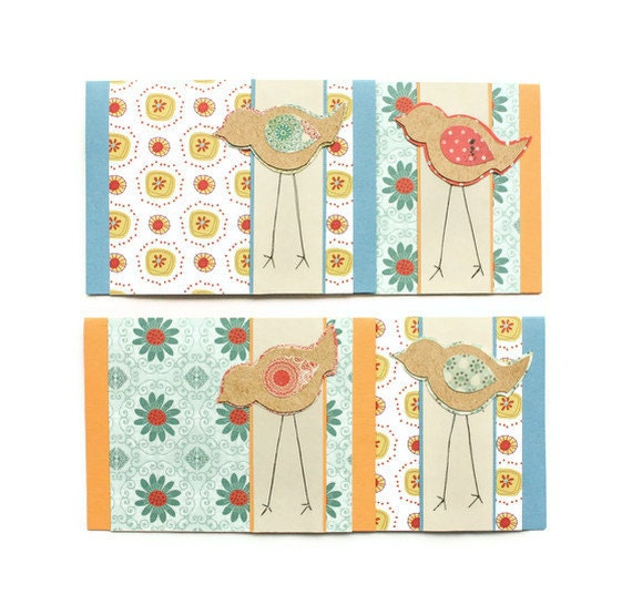 BIRD TAKES a WALK Card Set (Set of 4)