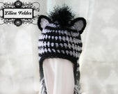 Zany Zebra Crochet Hat for Boys
