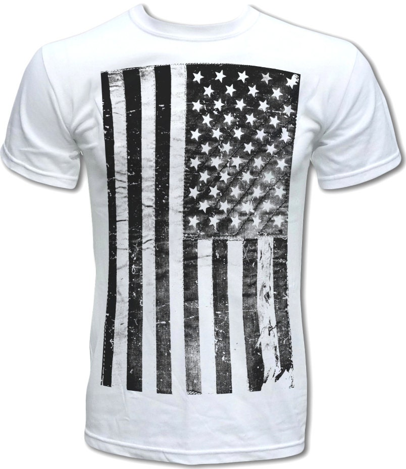 Distressed American Flag T Shirt Graphic Tees by ...