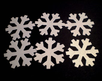 Shimmer Die Cut Snowflakes - small