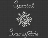 Cross Stitch Funny Pattern PDF Special Snowflake