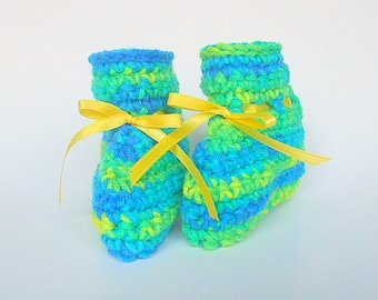 Baby Boy Booties  Infant Girl Slippers 3 4 5 6 Months Children Gender Neutral Clothing Bright Green Blue Yellow Crib Shoes
