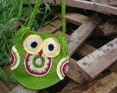 CROCHET BAG PATTERN, Funky owl bag, instant download, Pattern No. 20