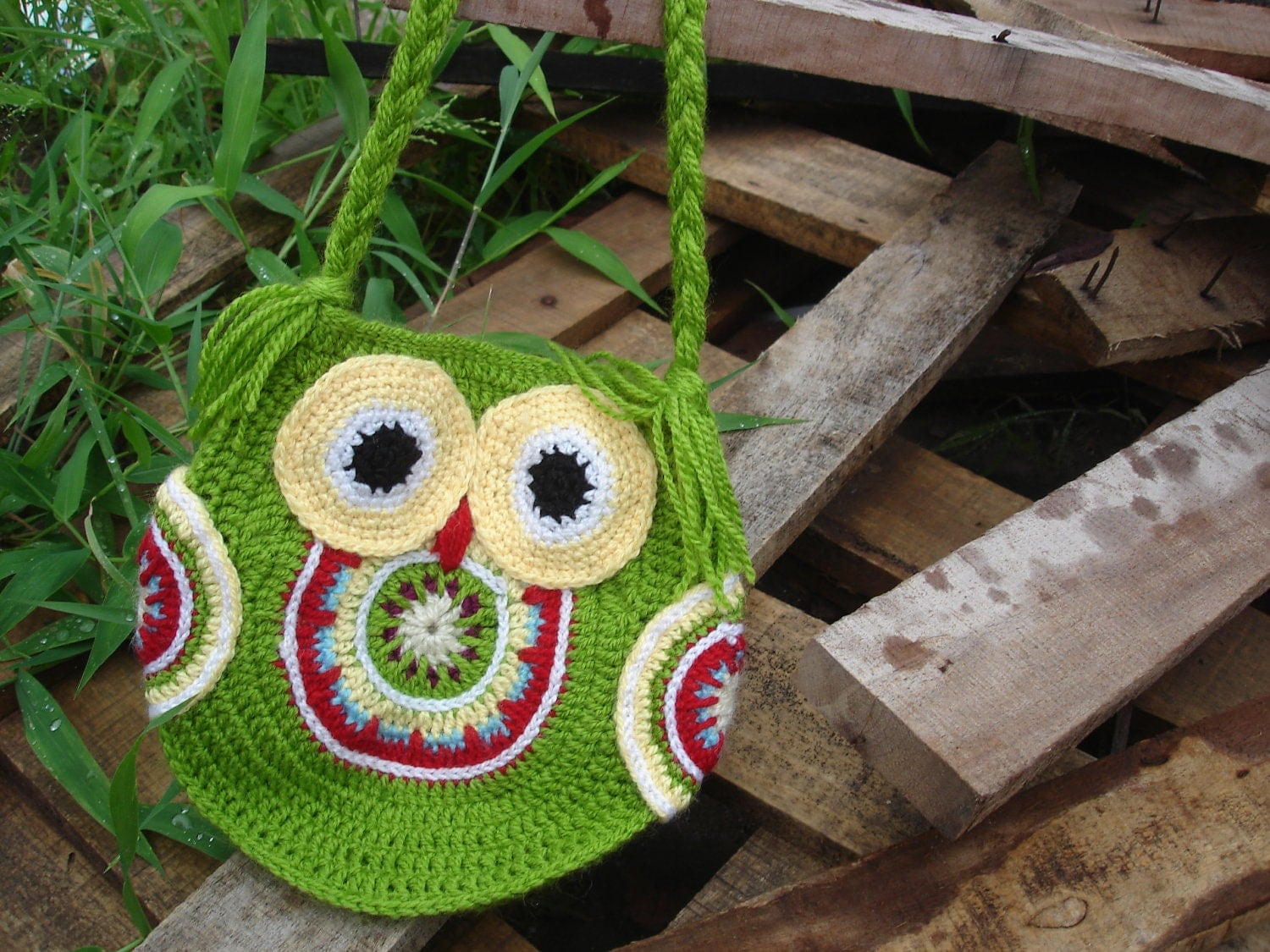 CROCHET BAG PATTERN Funky owl bag instant by ...