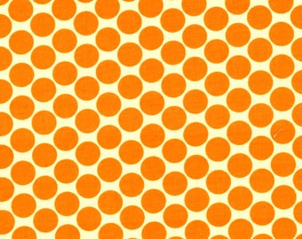 1 yard - Amy Butler  Lotus Full Moon Dot AB13 in Tangerine