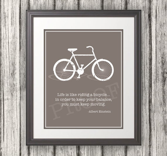 Albert Einstein Quotes Life Is Like Riding A Bicycle: Life Is Like Riding A Bicycle... Quote By Einstein