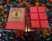 1 Package of Bubblegum 6 - 1 inch cubes Breakaway Soy Wax Tarts