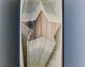 Folded Book Art - Star Sculpture - Book Lover Gift - Award - Teacher Gift - Wish Upon A Star - Number One