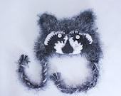 Baby Raccoon Hat / Coon Hat/ 0-3 Months / Photo Prop