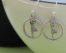 Yoga Earrings, Tree Pose Earrings, Yoga Jewelry, Yoga Gift, Balance