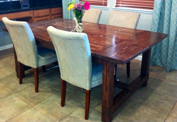 Items similar to impressive rustic pine farmhouse style for Dining room tables etsy