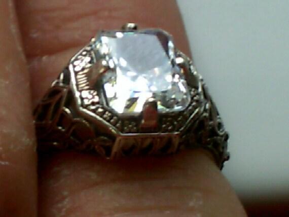 antique reproduction filigree ring