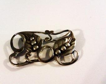 Vintage Primitive Sterling Silver Pin