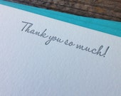 Thank You So Much Letterpress Notecard Set of 10