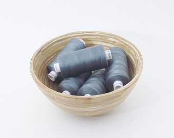 Grey polyester sewing thread. Coats Moon colour M0083. 1 reel