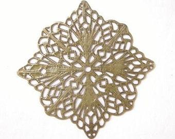 10pc 57mm antique bronze filigree wraps-5688