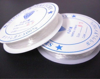 2 rolls of Elastic Wire 0.8mm thickness-1352A