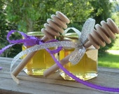 Wedding Favors 24 Raw Wildflower Honey Wedding Favors 2oz Jars Raw Honey Tennessee Wedding Reception Golden Anniversary Wood Dippers Gift