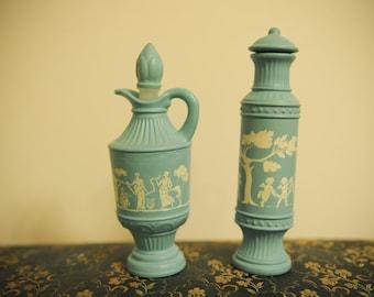 Vintage Avon Blue and White Lotion Bottles