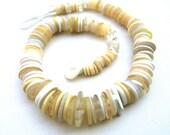 Vintage Button Necklace: White Button Faux Shell Necklace