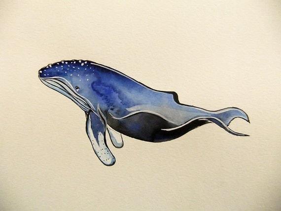 Humpback Whale-Original Watercolor Painting