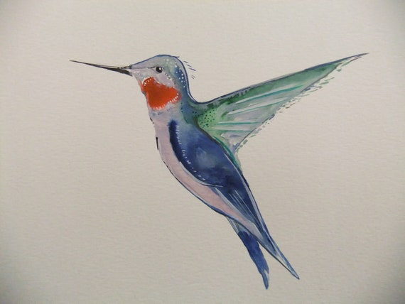 Hummingbird-Original Watercolor Painting