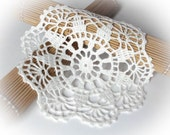 Crochet doily Small white lace doilies Linen crocheted doilies Lace doily crochet White crochet doily