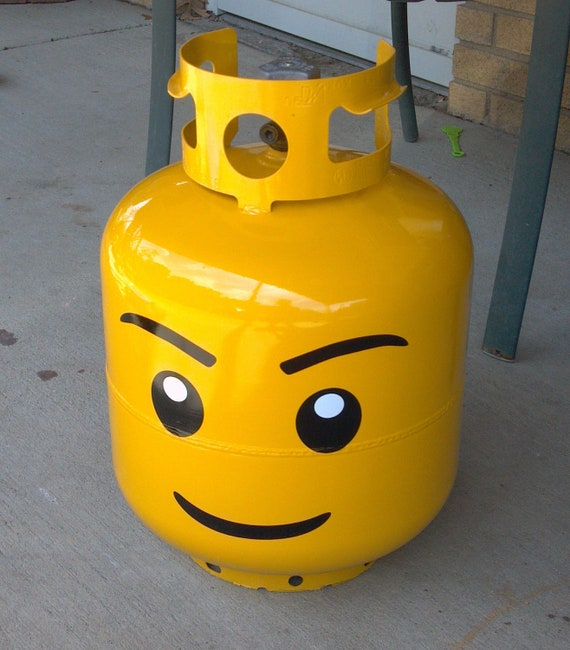 Building Block Head Grill Propane Tank Kit