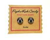 Damask Toolie Post Earrings