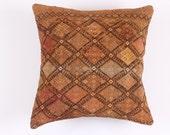 VINTAGE Pillow - Turkish decorative kilim pillow cover,16''X16'', Bohemian Home Decor, Cushion Cover