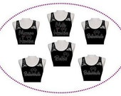 6 Pack of Disney Bride and Attendant Rhinestone Half Lace Tank Top Wedding Bling Bridesmaid Maid of Honor Matron of Honor