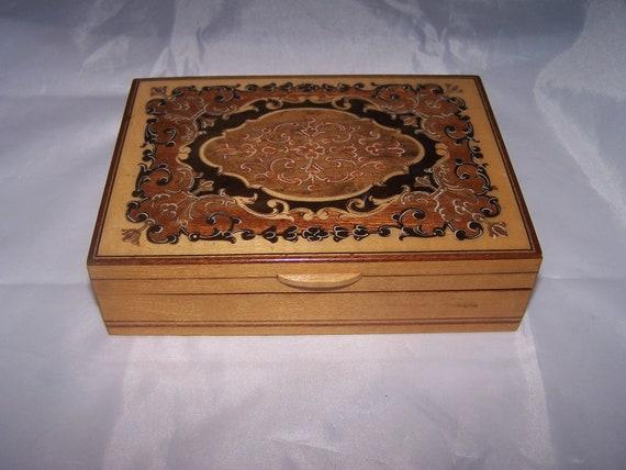 sale sale DECORATIVE  WOOD CARD Box or use as jewelry trinket box