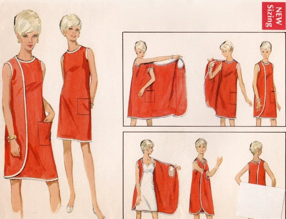 Vintage 1960s Sewing Pattern 2 Way Wrap Around Dress From 1