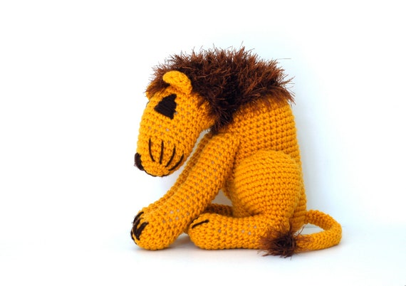 Leo - Handmade Crochet Large Lion Stuffed Animal